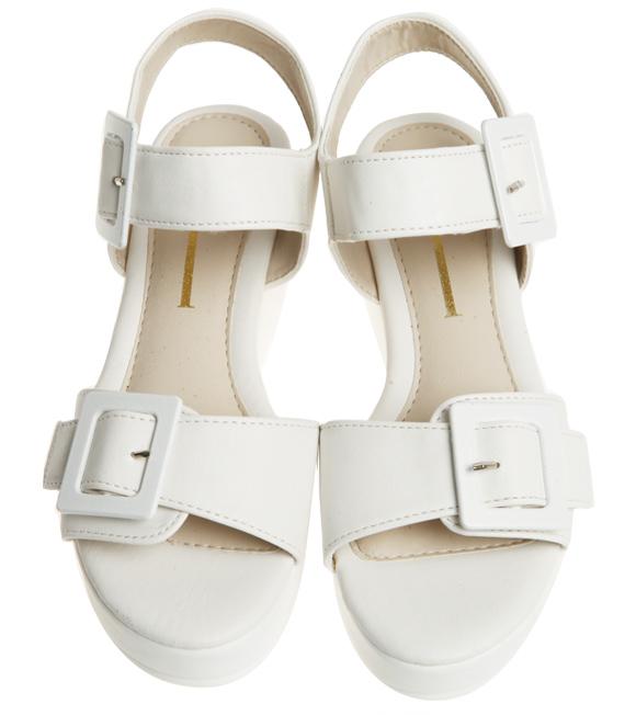 buckle platform sandal, shoes