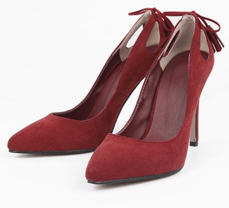 back point stiletto heel (3 colors)