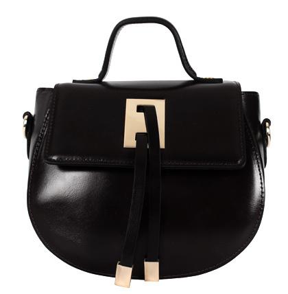 Half moon tote & cross bag * Leather