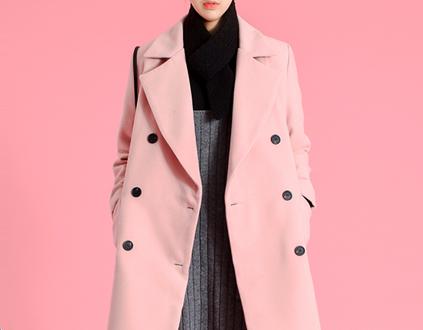 트렌드 컬러 핑크, 코트로 입기 좋아