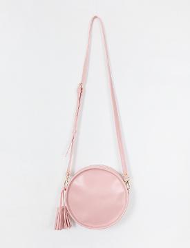 Circle tassel clutch bag_H (size : one)