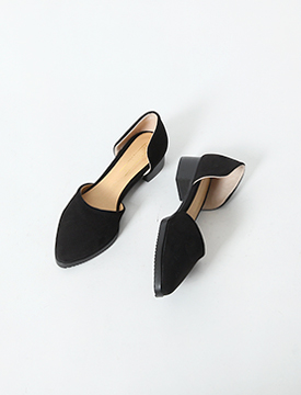 Slim open flat shoes_H (size : 225,230,235,240,245,250)