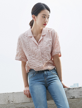 Embo dot pajama shirts_B (size : free)