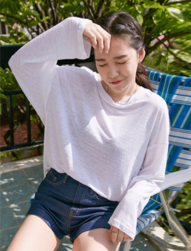 Round loose linen T_B (size : free)