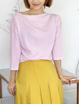 Boat neck color T_P (size : free)