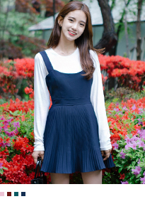 ONLY MIX Pleats point dress