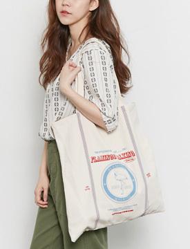 Flamingo cotton bag_Y (size : one)