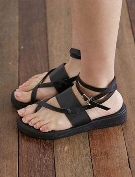 Black belt_string sandal_B (size : 225,230,235,240,245,250)