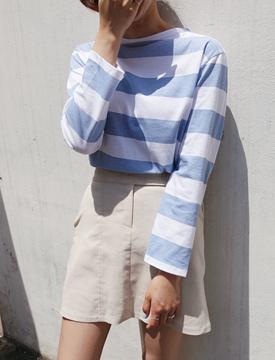 Stripe cotton T_B (size : free)