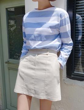 Linen H skirt_B (size : free)