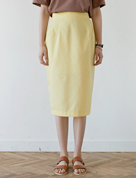Embo midi skirt_B (size : free)
