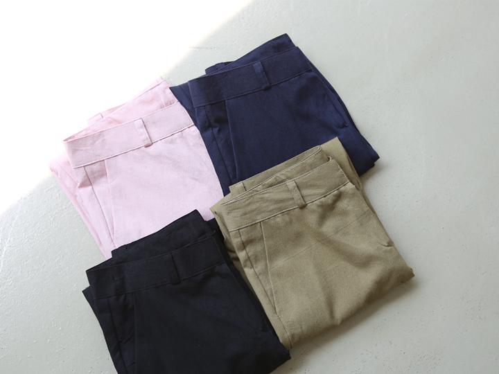 [BOTTOM] LINEN PASTEL PANTS