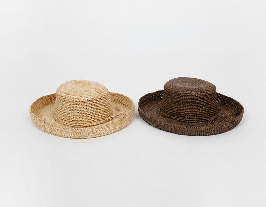 Snap straw floppy hat_P (size : one)