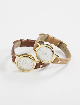 Time leather watch_K (size : one)