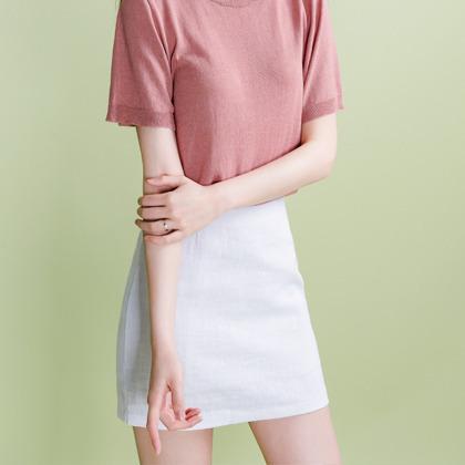 linen basic skirt