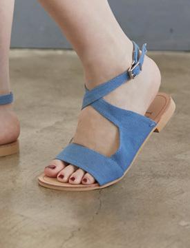 Cotton denim sandal_Y (size : 230,235,240,245,250)