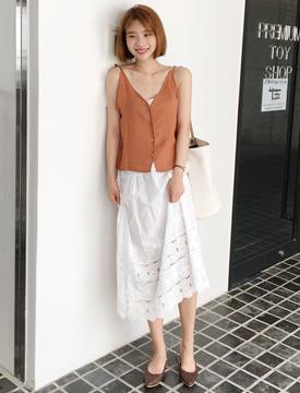 Lace sleeveless ops_B (size : free)