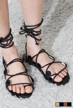 Long strap sandals
