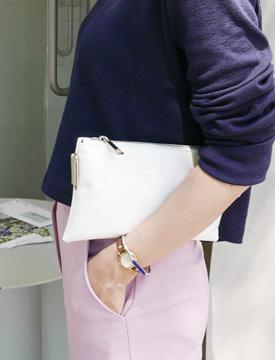Enamel canvas mini bag_P (size : one)