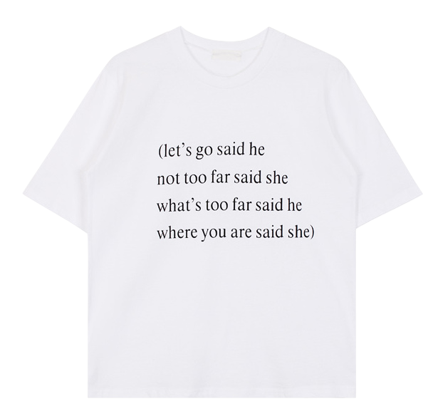 Lettering tee (3color)