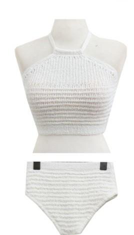 Knit holter bikini