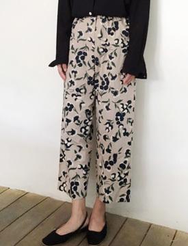 Flower banding cotton pants_K (size : free)