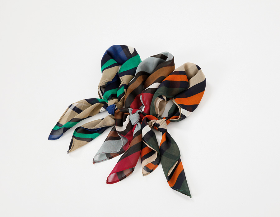 Mix vertical scarf_K (size : one)