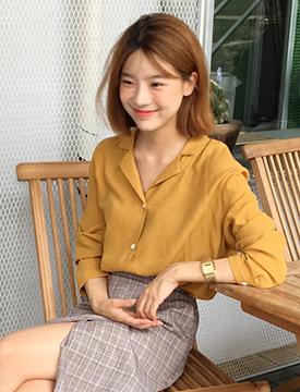 Mood collar blouse_P (size : free)