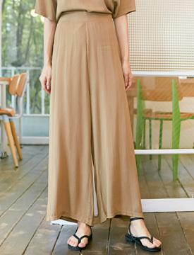 Female wrinkle wide pants_K (size : free)
