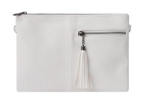 Half zipper clutch