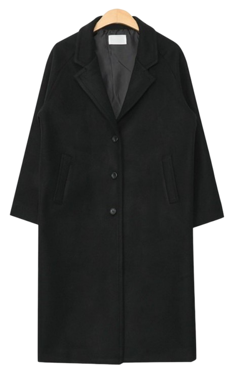 simple daily wool long coat (3 colors)