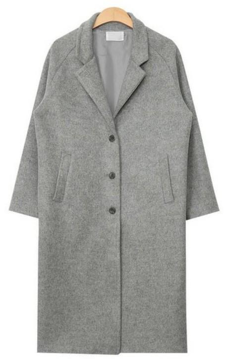 simple daily wool long coat (3 colors)