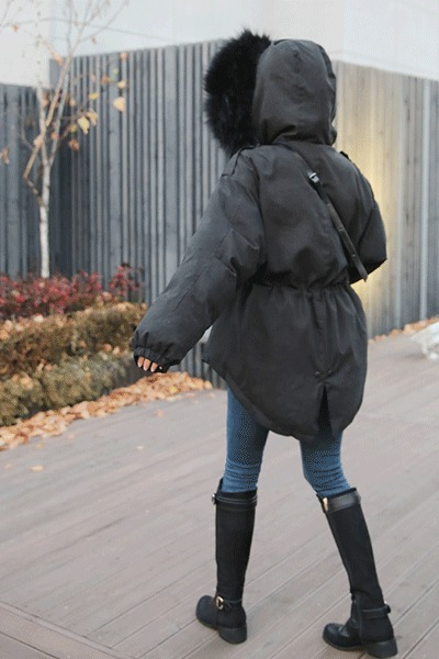 벤 라쿤패딩 (리얼라쿤 · 오리털+웰론으로 가볍고 따뜻하게)