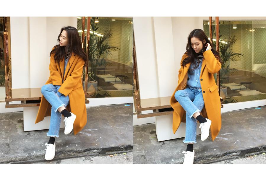 Vivid premium alpaca coat_Y (size : free)