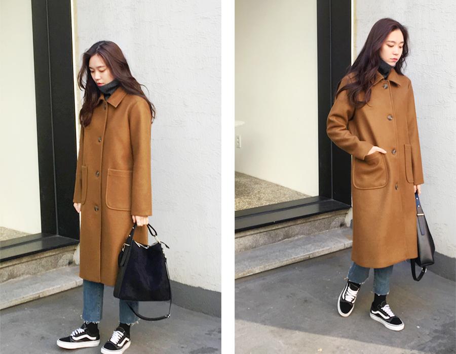 Mild single long coat_H (size : free)