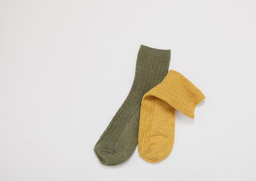 Melange twist socks_H (size : one)