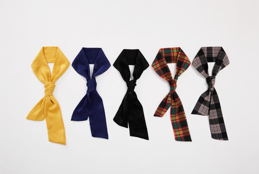 Preppy color tie_Y (size : one)