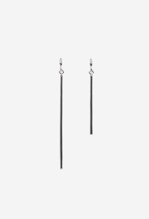 Silver stick earring