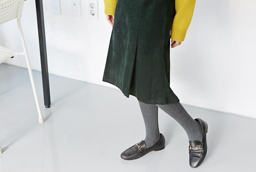 Slit flare corduroy skirt_H (size : S,M)