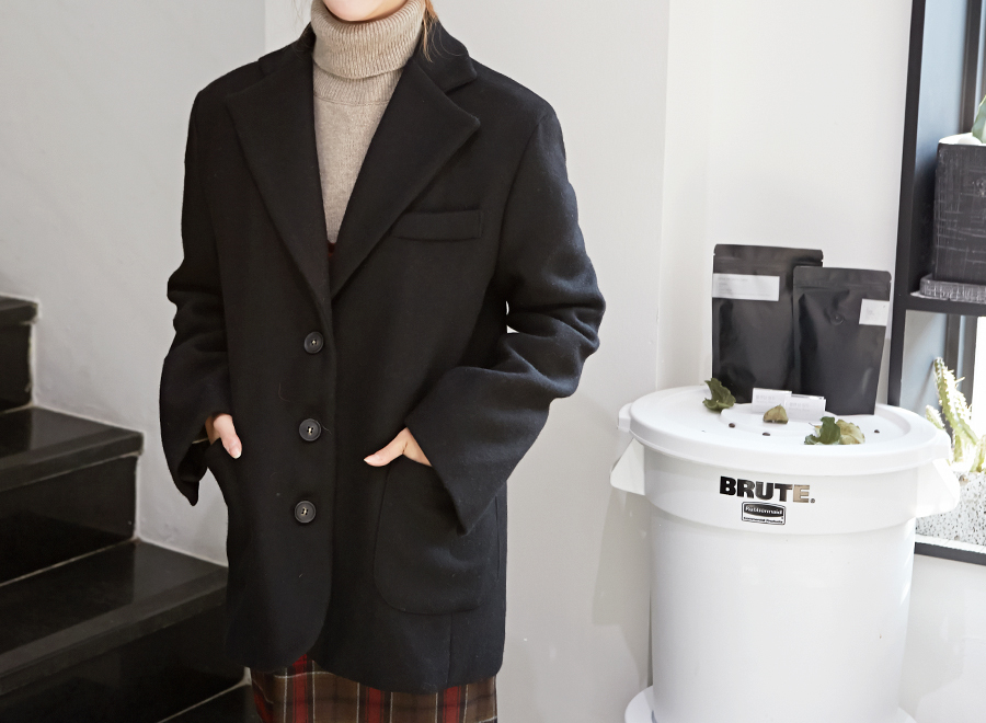Classic wool single jacket_Y (size : free)