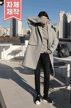 (ZEM.made) 단아핏-울코트 (울90%,light-gray)