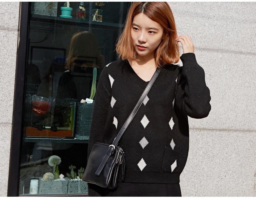 Dia angora v-neck knit_M (size : free)