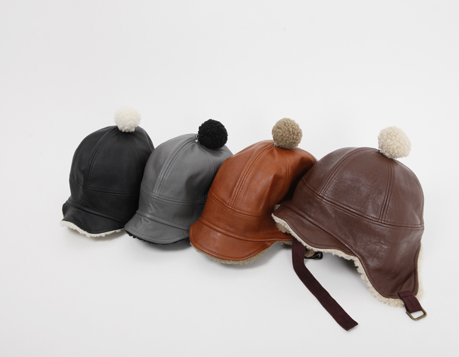 Bell leather flight hat_H (size : one)