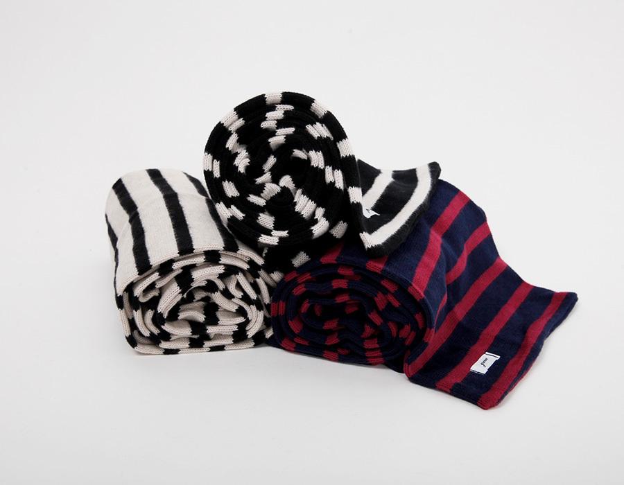 Saint stripe cotton muffler_K(size : one)