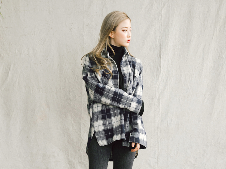 [TOP] PITCH CKECK SHIRTS