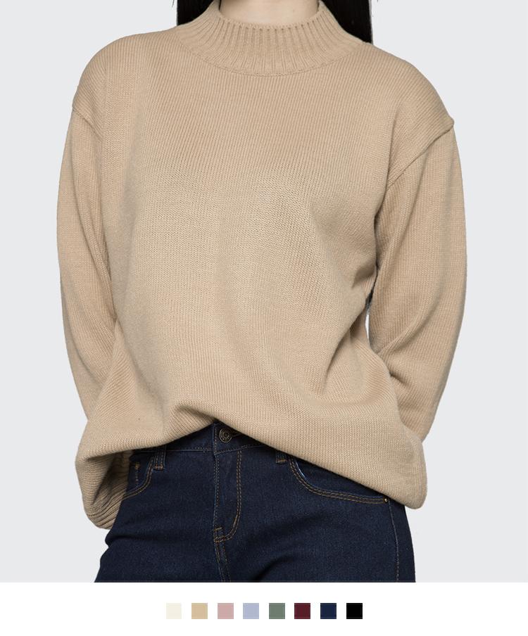 Half-high neck knit