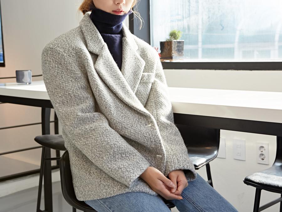 Vintage boucle wool jacket_Y