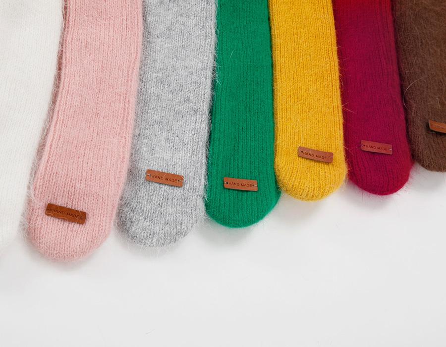 Angora knit muffler_K(size : one)