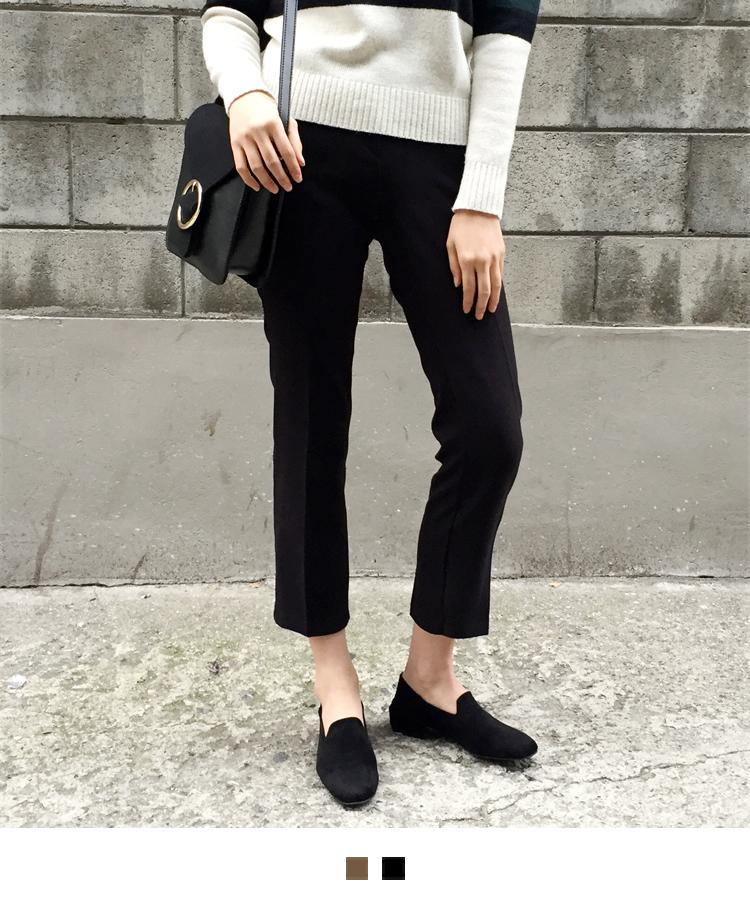 Warming brushed slacks