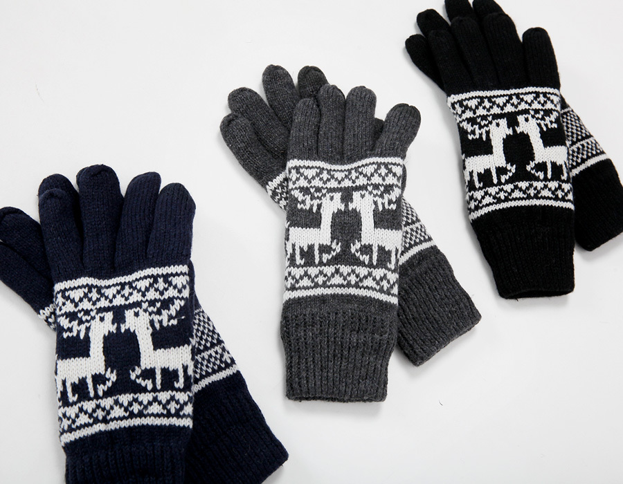 Nordic smart touch glove_K(size : one)